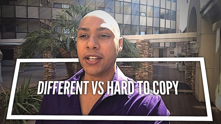 different vs hard to copy